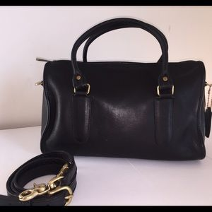Coach vintage black leather doctors bag satchel